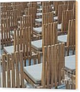 Cardboard Cathedral Chairs Wood Print