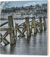 Cardiff Bay Old Jetty Supports Wood Print