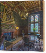 Cardiff Castle Apartment Dining Room Wood Print