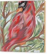 Cardinal At Rest Wood Print
