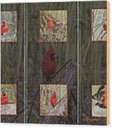 Cardinal Family Wood Print