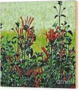 Cardinal Flowers Wood Print