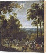 Cardinal-infante On The Hunt Wood Print