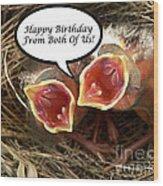 Cardinals Birthday Card Wood Print
