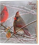 Cardinals - Male And Female - Img_003card Wood Print
