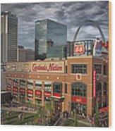 Cardinals Nation Ballpark Village Dsc06175 Wood Print