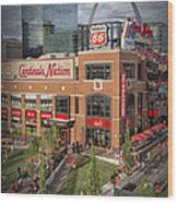 Cardinals Nation Ballpark Village Dsc06176 Wood Print