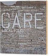Care In Detroit  Wood Print
