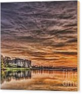 Carew Castle Sunset 2 Wood Print
