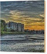 Carew Castle Sunset 3 Wood Print