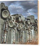 Carhenge Automobile Art Wood Print
