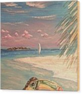 Caribbean Afternoon Wood Print by The Beach  Dreamer