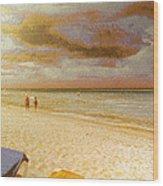 Caribbean Beach Wood Print by Odon Czintos
