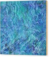 Caribbean Blue Abstract Wood Print