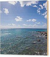 Caribbean Blue Wood Print