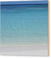 Caribbean Blues Wood Print