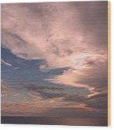 Caribbean Clouds Wood Print