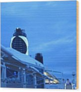Caribbean Cruise - On Board Ship - 1212100 Wood Print