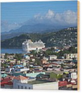 Caribbean Cruise - On Board Ship - 1212147 Wood Print
