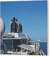 Caribbean Cruise - On Board Ship - 121267 Wood Print