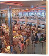 Caribbean Cruise - On Board Ship - 121271 Wood Print