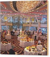 Caribbean Cruise - On Board Ship - 121275 Wood Print
