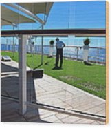 Caribbean Cruise - On Board Ship - 121284 Wood Print