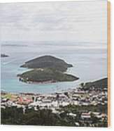 Caribbean Cruise - St Thomas - 12124 Wood Print by DC Photographer