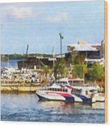 Caribbean - Dock At King's Wharf Bermuda Wood Print