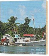 Caribbean - Docked Boats At Antigua Wood Print