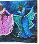 Caribbean Folk Dancers Wood Print