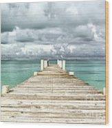 Caribbean Landscape - Isolated Jetty - Bahamas Wood Print