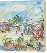 Caribbean Market Wood Print