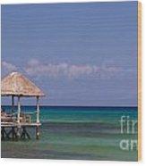 Caribbean Pier Wood Print