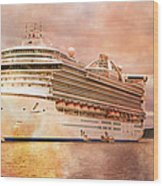 Caribbean Princess In A Different Light Wood Print by Betsy Knapp