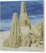 Caribbean Sand Castle  Wood Print