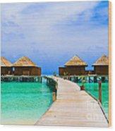 Caribbean Sea Wood Print by Boon Mee