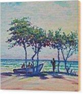 Caribbean Sun Wood Print by Joseph   Ruff
