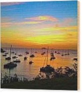 Caribbean Sunset Wood Print