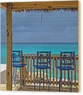 Caribbean View-island Grill Grand Cayman Wood Print