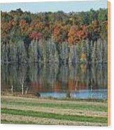 Caribou Lake Reflected Wood Print