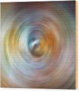 Carina Nebula Spin Art Wood Print