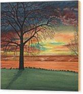 Carla's Sunrise Wood Print