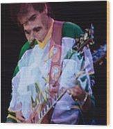 Carlos Santana At The Berkeley Greek Theater-september 13th 1980 Wood Print