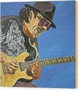 Carlos Santana-magical Musica Wood Print