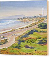 Carlsbad Rt 101 Wood Print by Mary Helmreich