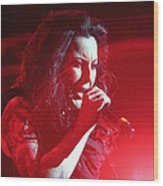 Carly And The Concert Lighting Wood Print