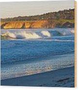 Carmel Beach California Wood Print