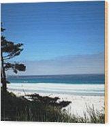 Carmel Beach California Usa Wood Print