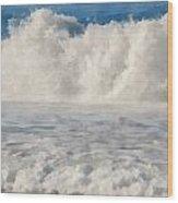 Carmel By The Sea California Beach Wood Print